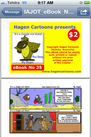 It's a Jungle Out There! cartoon book on iphone sample 2